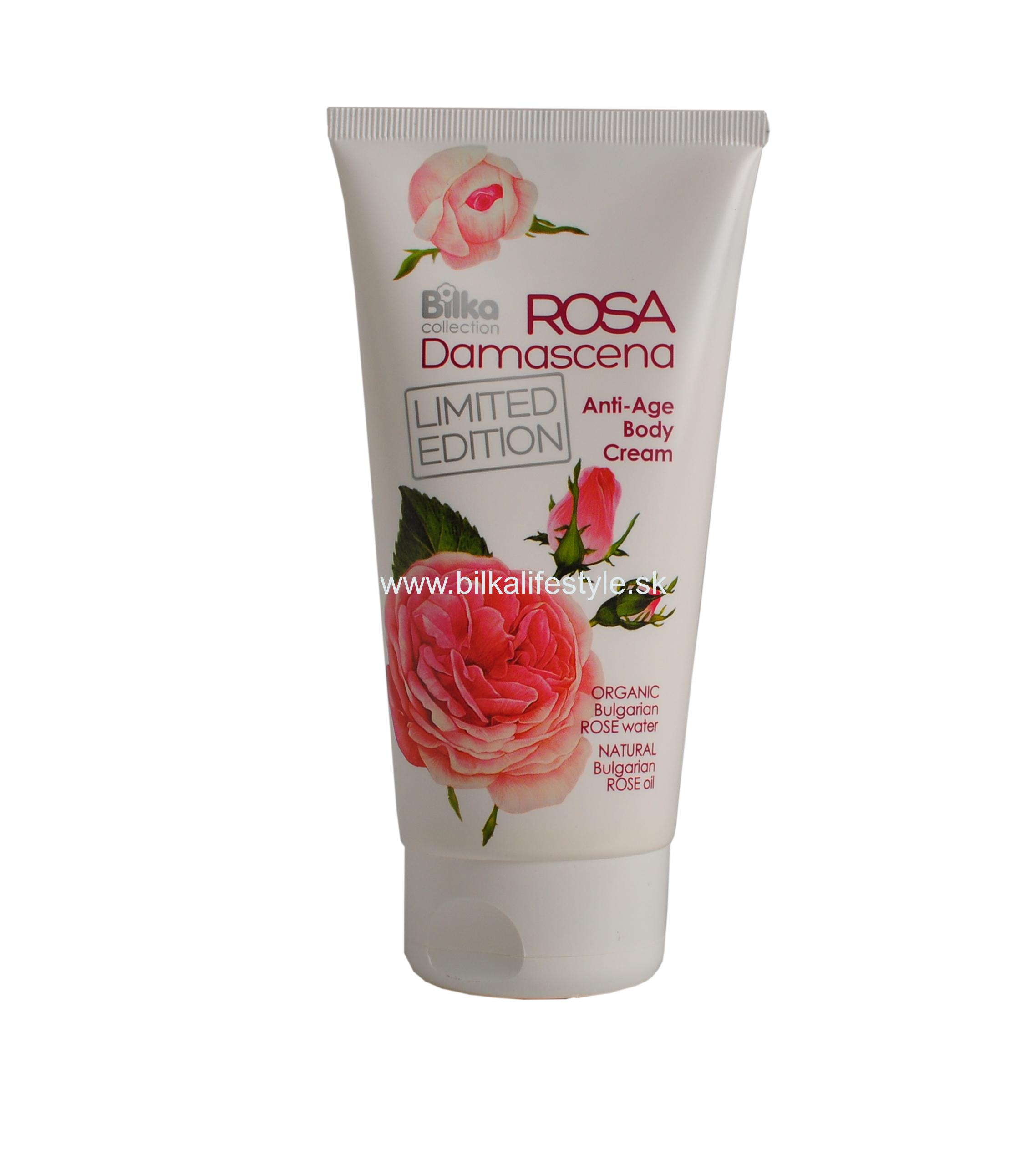 BILKA Anti-Age Body Cream ROSA DAMASCENA 180 ml